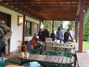 Einzelbewertung am Sonntag unter Dach auf der Terasse